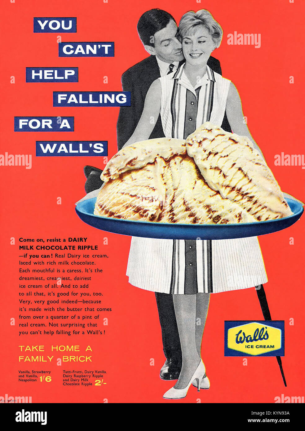 WALL'S ICE CREAM ADVERTS 1950s - Stock Image