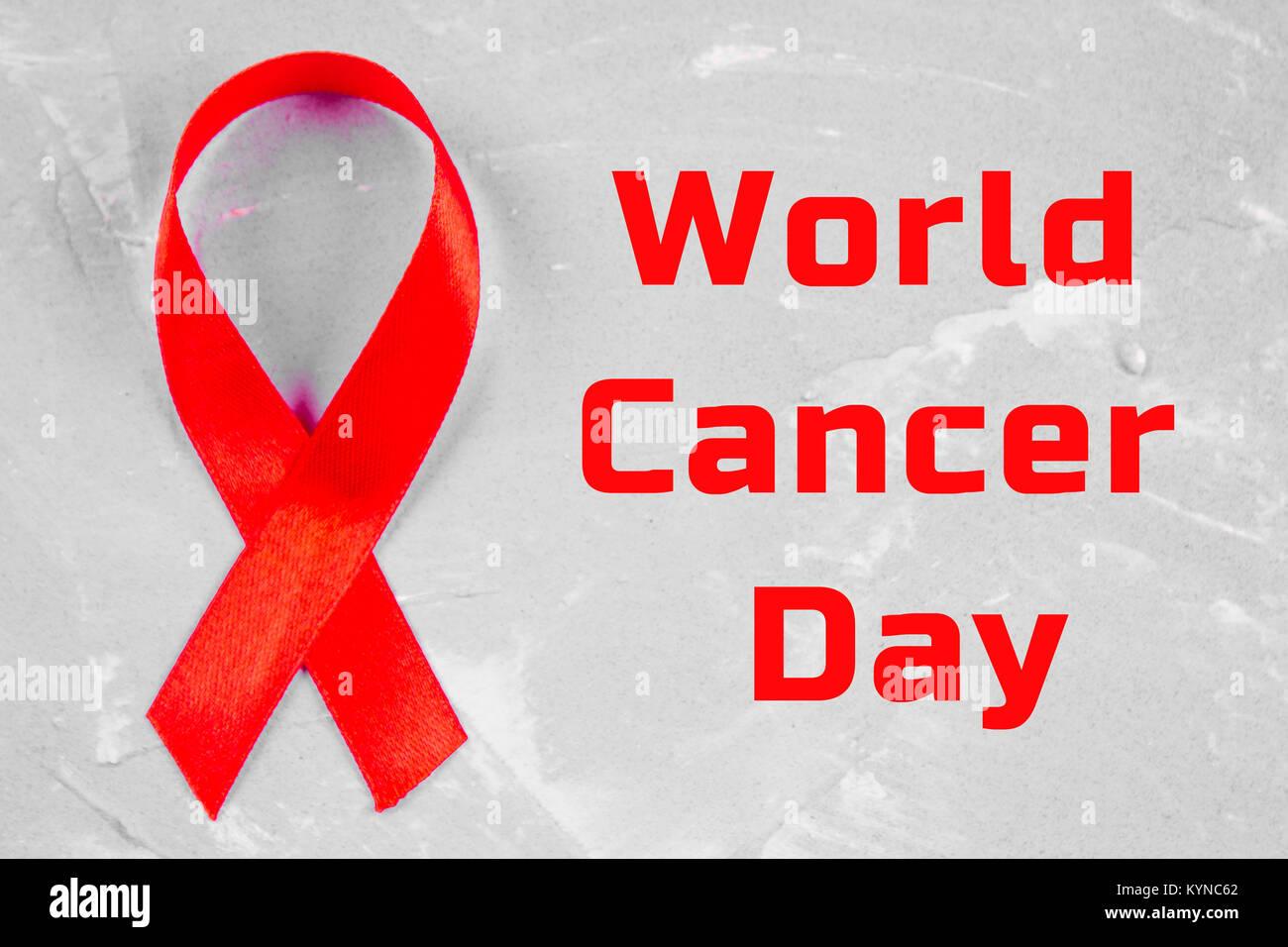 74373a665ab World Cancer Day Awareness ribbon. February 4 Stock Photo: 171959594 ...