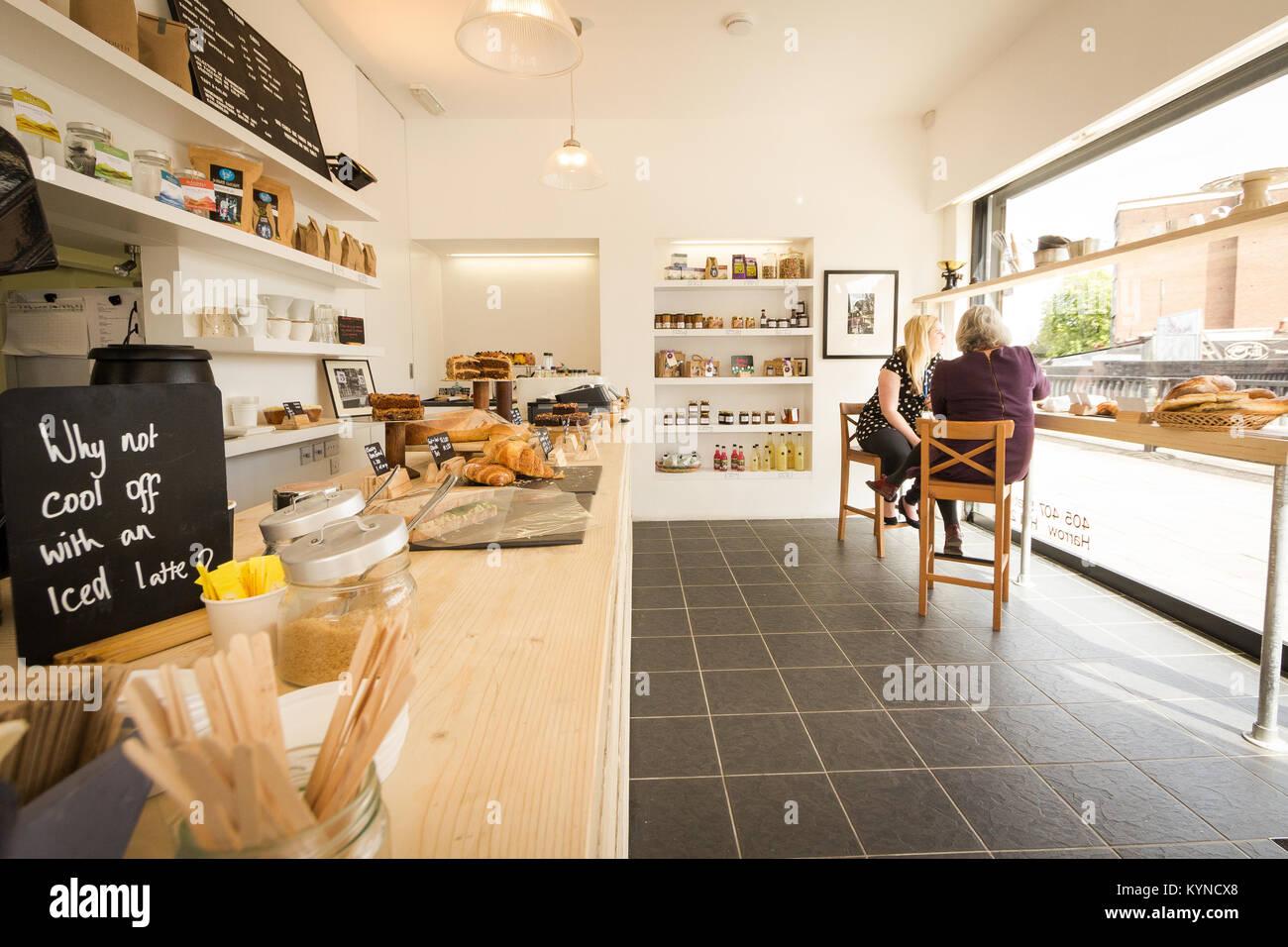 Artisan baker, Harrow, north west London UK - Stock Image