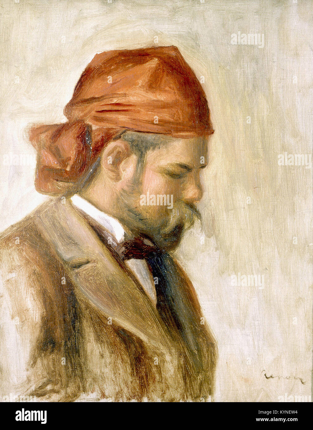 Pierre-Auguste Renoir - Ambroise Vollard in a Red Scarf - Stock Image