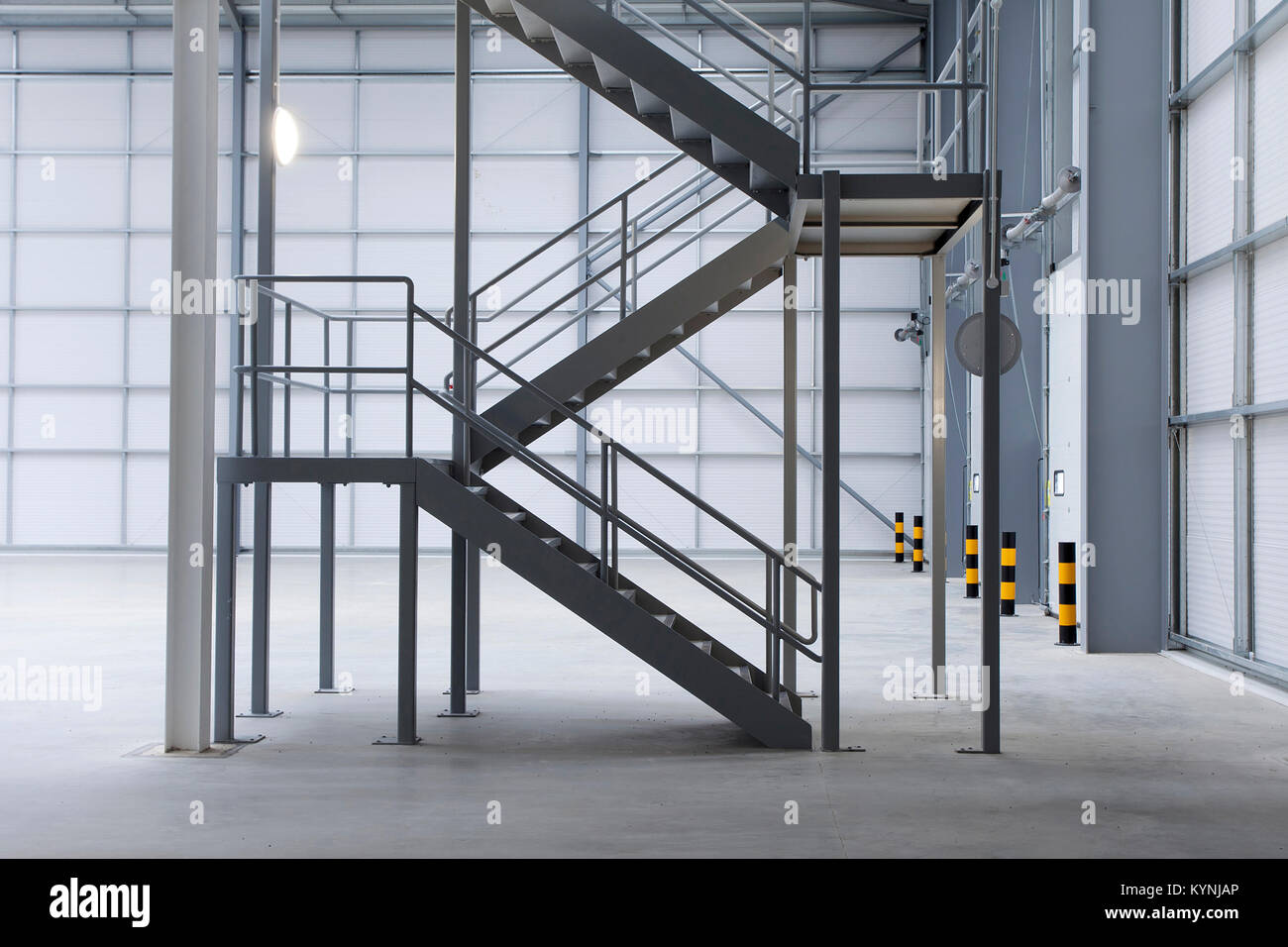 Beau Modern New Clean Warehouse With Staircase   Stock Image