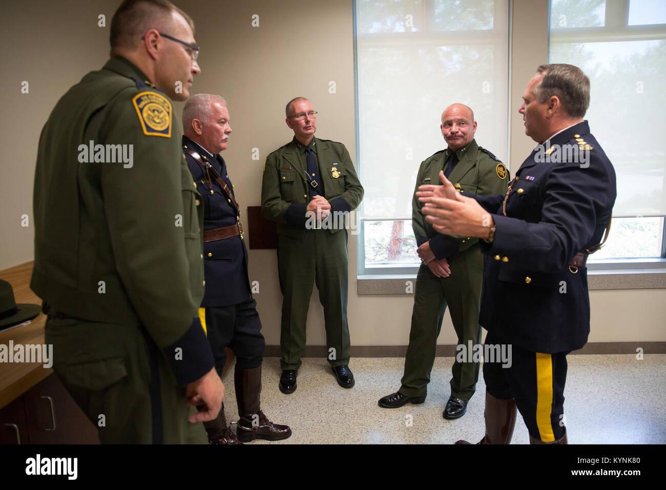 U S  Border Patrol Academy Chief Dan Harris visits the Royal