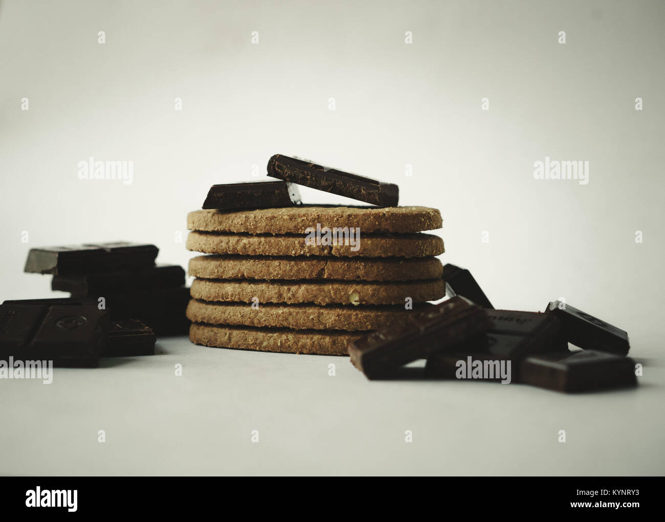 Time For Some Chocolates & Cookies! - Stock Image
