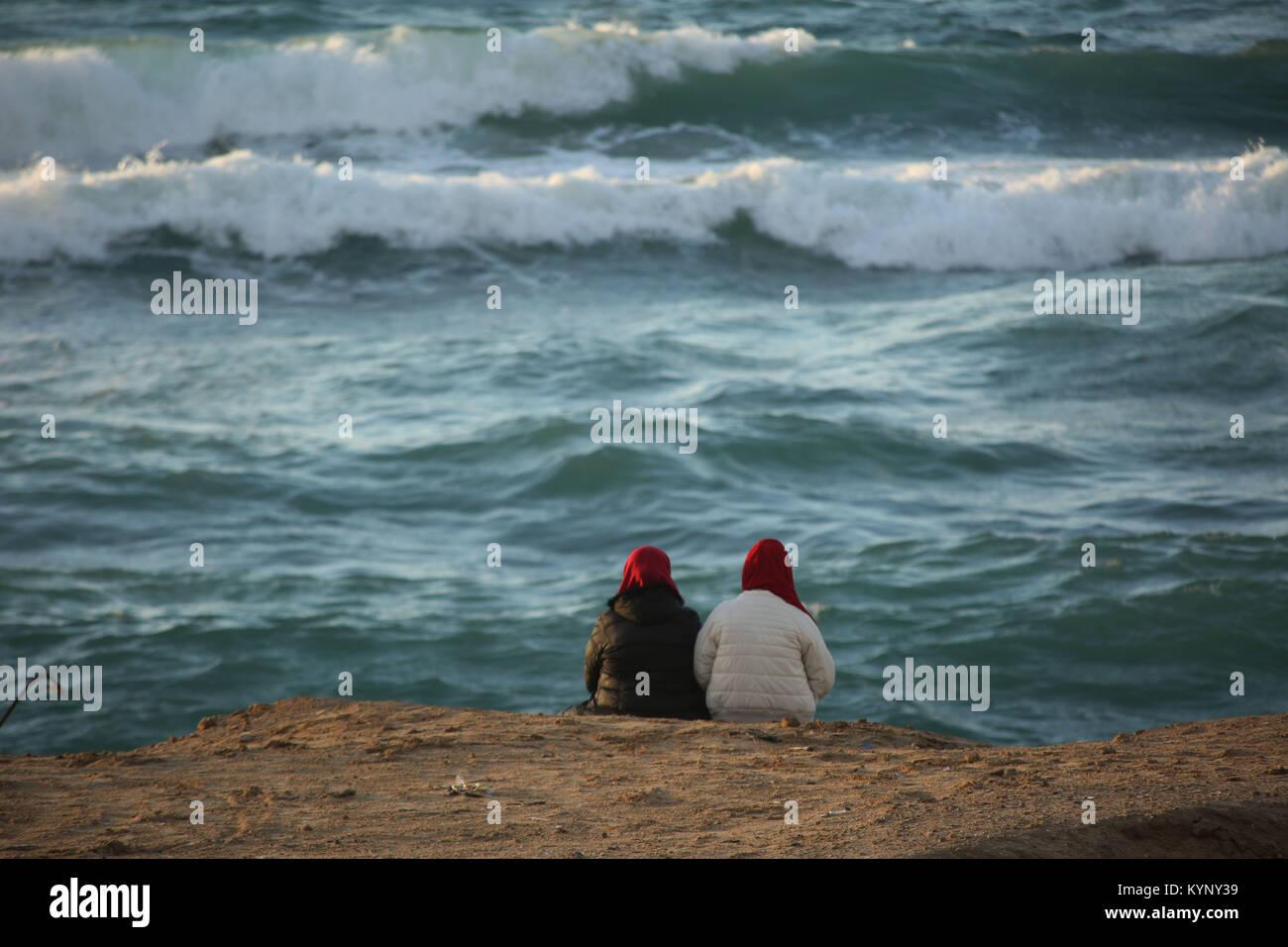 Gaza City, The Gaza Strip, Palestine. 15th Jan, 2018. Palestinians ...