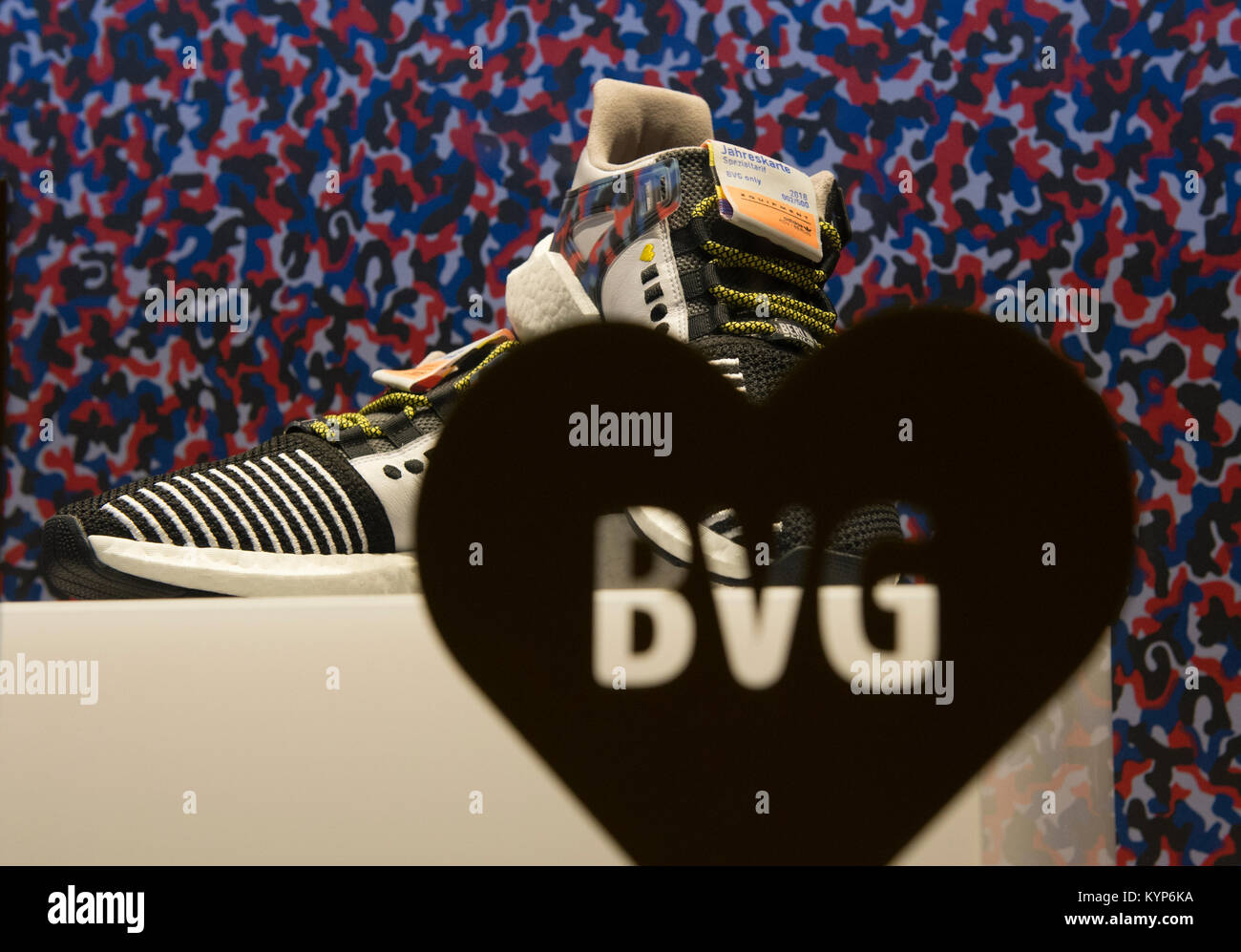 elige auténtico diseños atractivos comprar genuino A pair of the coveted Adidas sneakers with a built-in BVG (Berlin ...