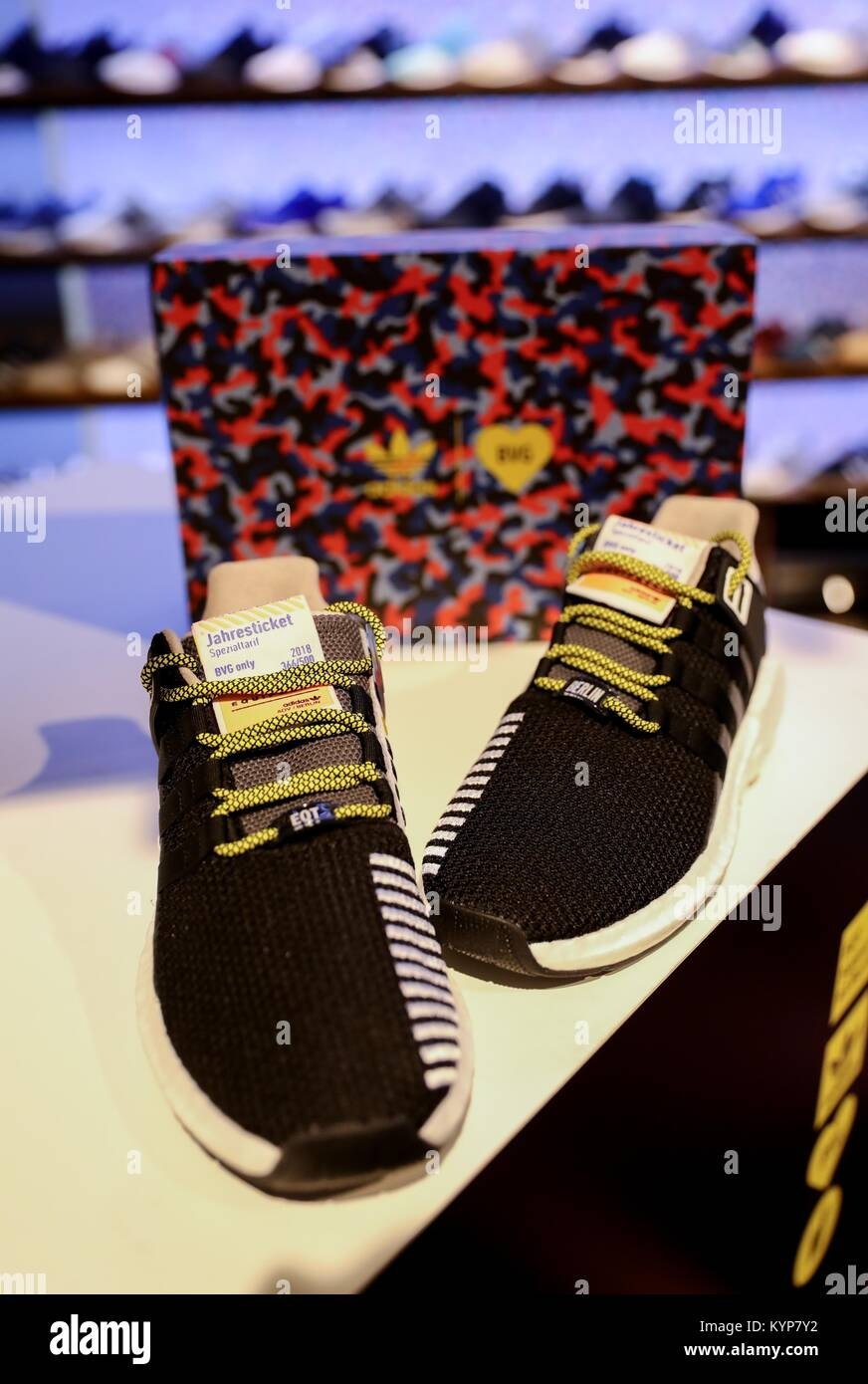 mayor descuento 60% barato buscar auténtico Berlin, Germany. 16th Jan, 2018. A pair of the coveted Adidas ...