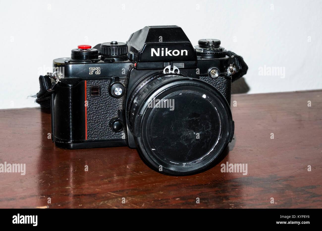 Nikon F3 Classic Film Camera - Stock Image