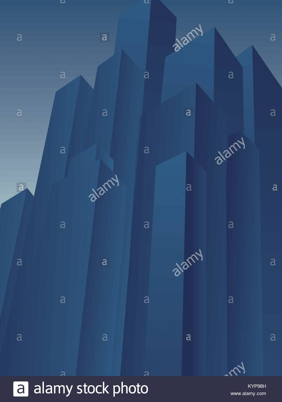 Huge high rise skyscraper district vector background. Symbol of corporation, moguls, tycoons, evil, corrupt, negative - Stock Vector