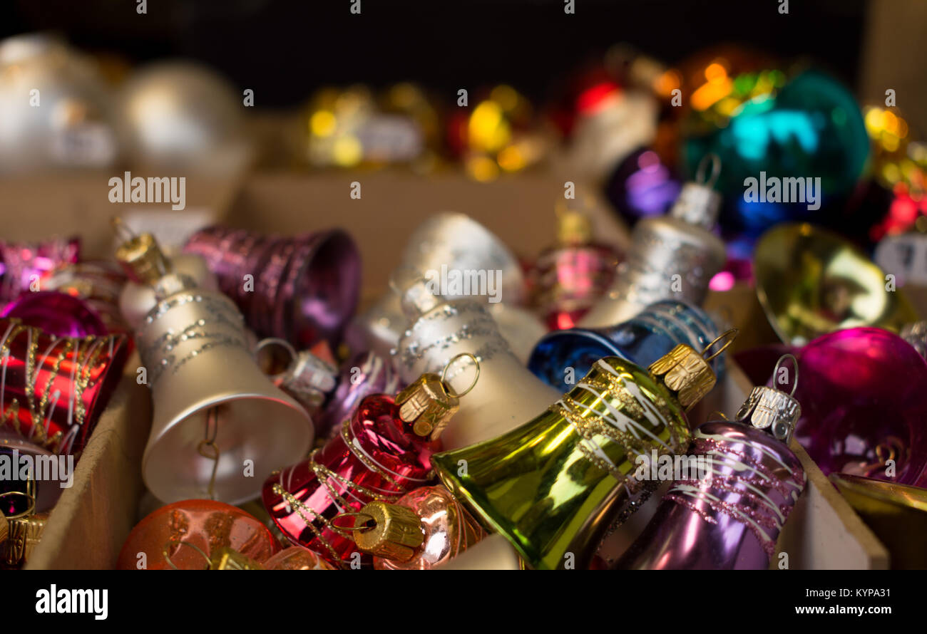christmas bells decorations stock image