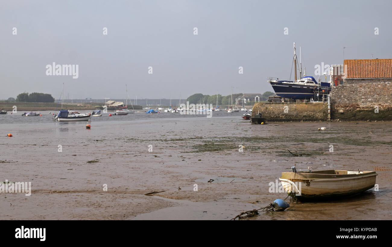 The River Exe Estuary at Topsham, three miles from Exeter, Devon, England, UK - Stock Image