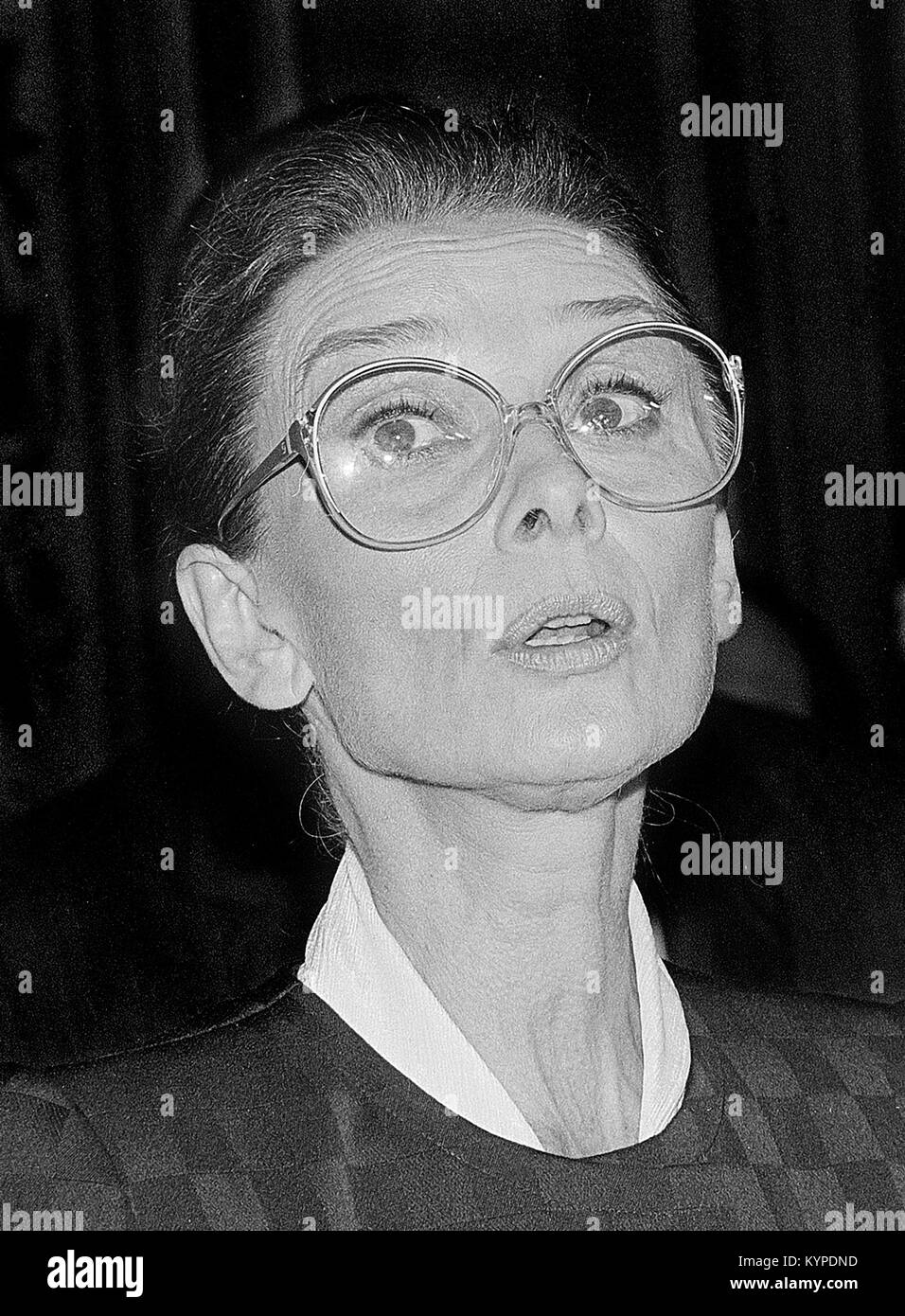 Audrey Hepburn (1929-1993). The American actress and humanitarian photographed in 1991. - Stock Image