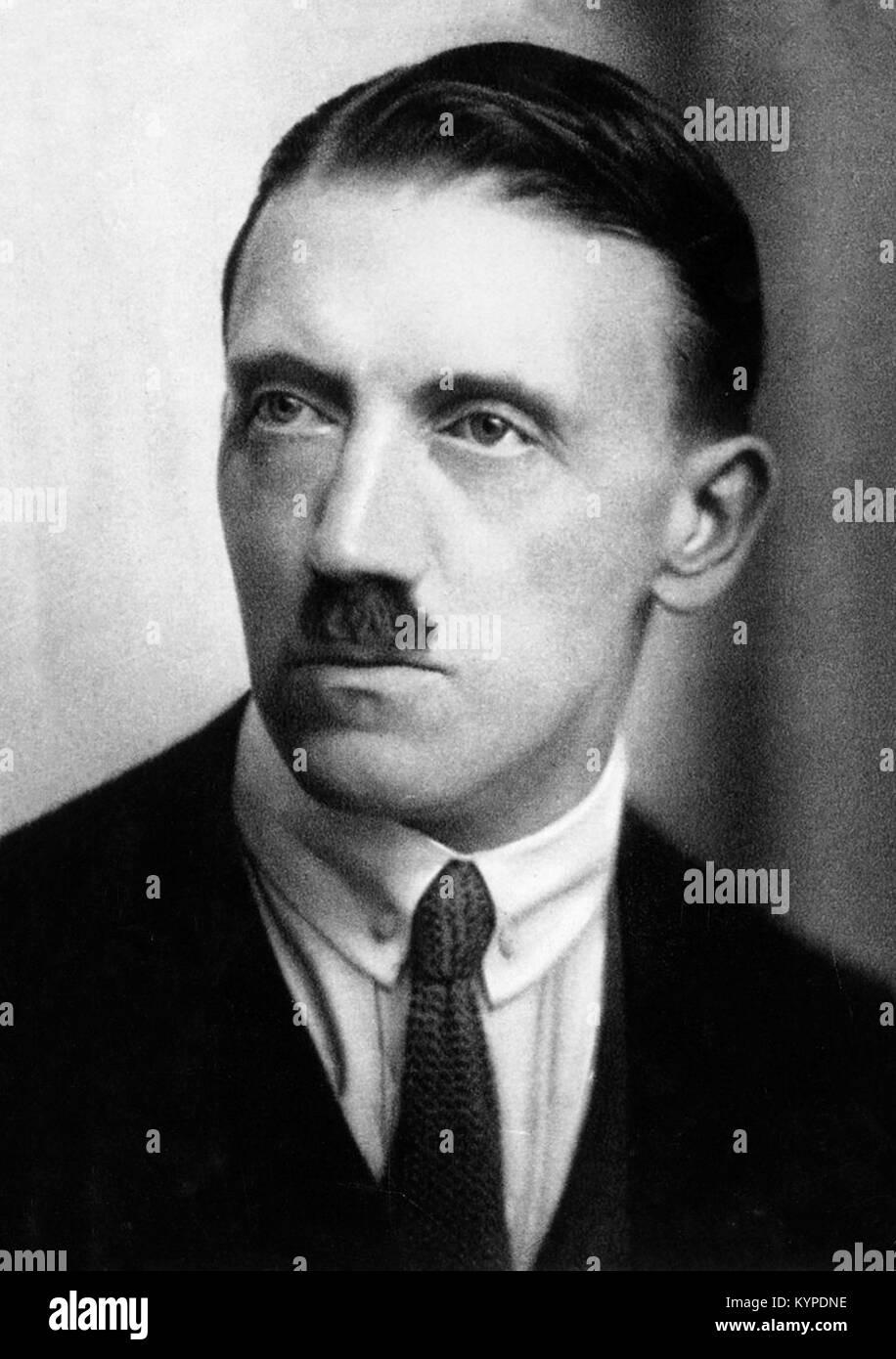 Adolf Hitler (1889-1945) as a young man. Photograph c.1924. Stock Photo