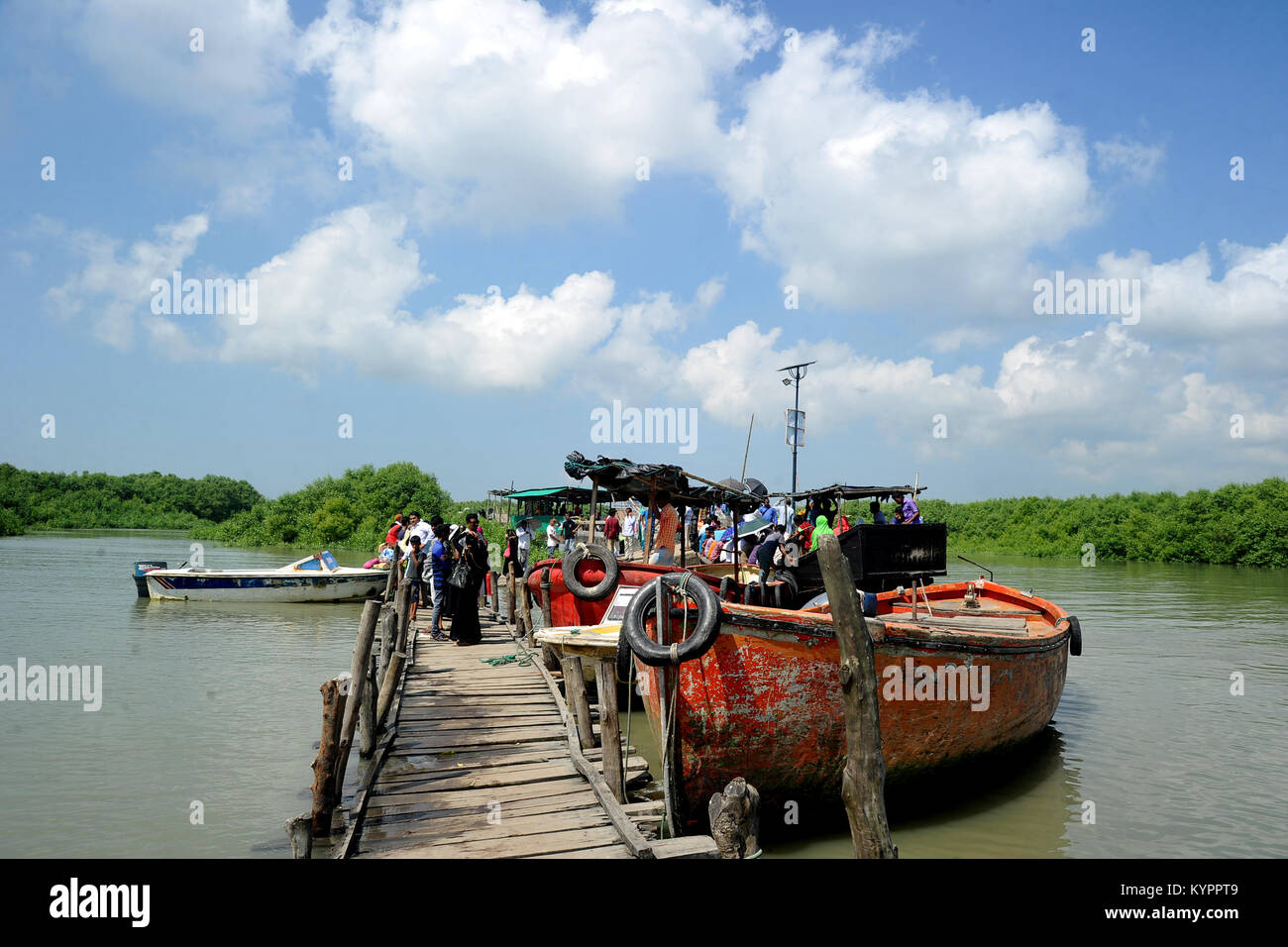 Visitors at Moheshkhali Iland in Cox's Bazar, Bangladesh Stock Photo