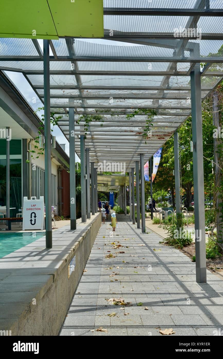 Pavement and walkways around Riverway, Townsville, Queensland, Australia Stock Photo