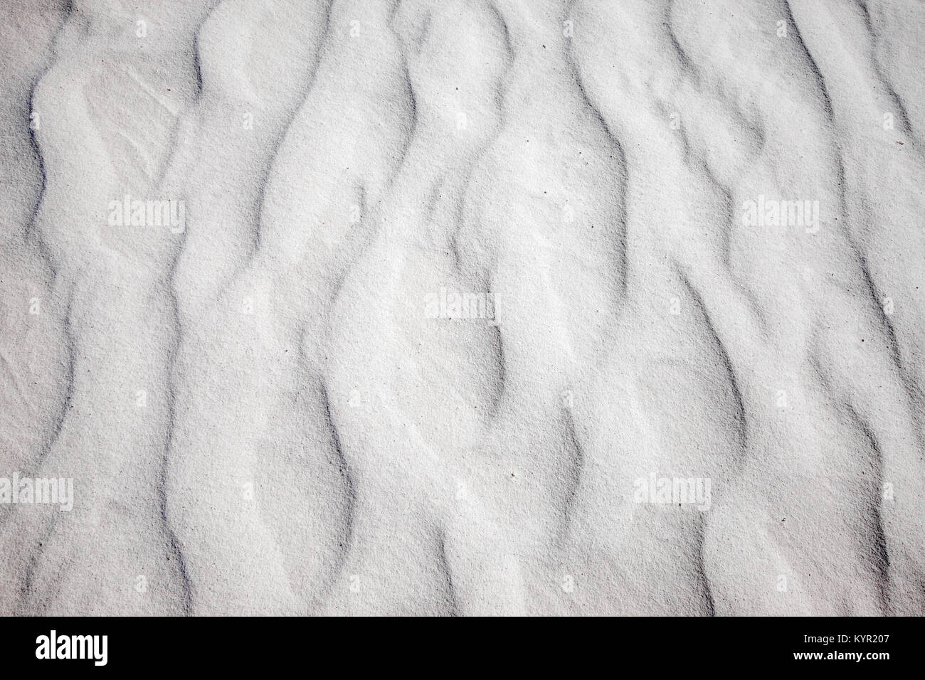 Close up of sand patterns, White Sands Dunes National Mounument, New Mexico - Stock Image