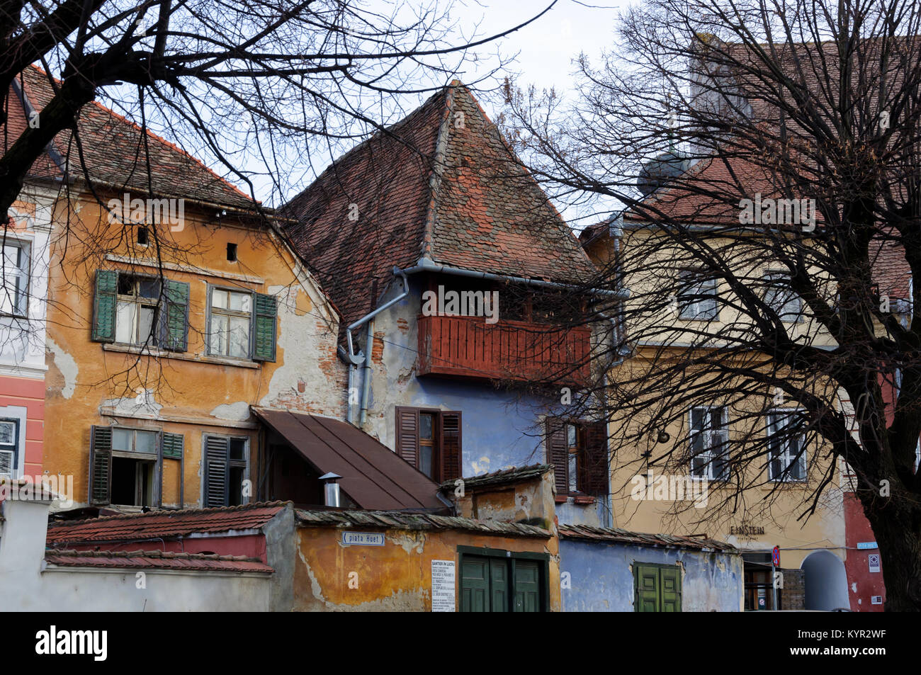 Sibiu's picturesque Old Town - Stock Image