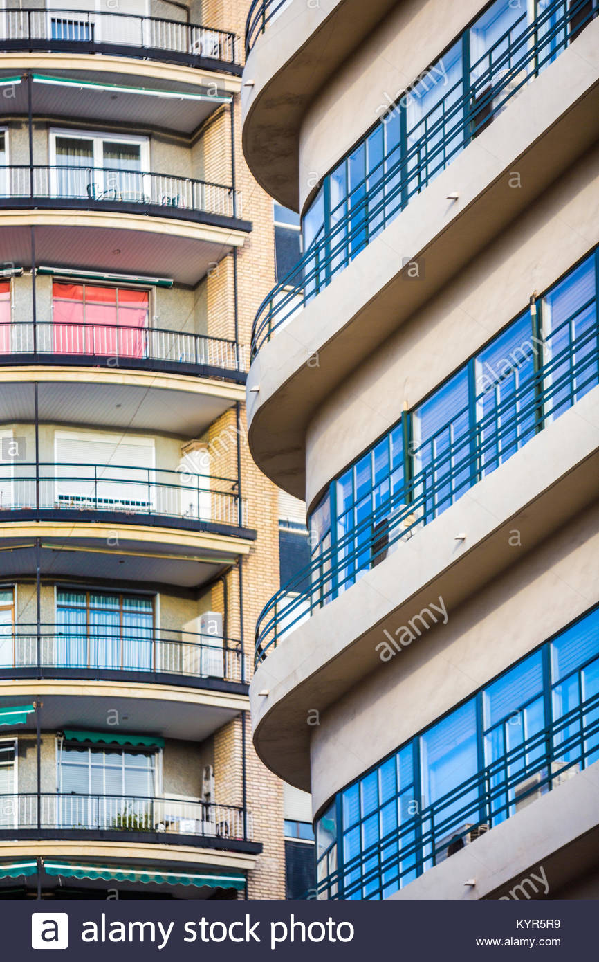 Detail of building in Valencia, Spain - Stock Image