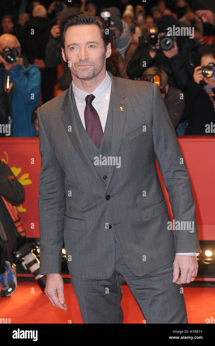 Hugh Jackman attends the 67th Berlinale International Film Festival Berlin Premiere of Logan at the Grand Hyatt - Stock Image
