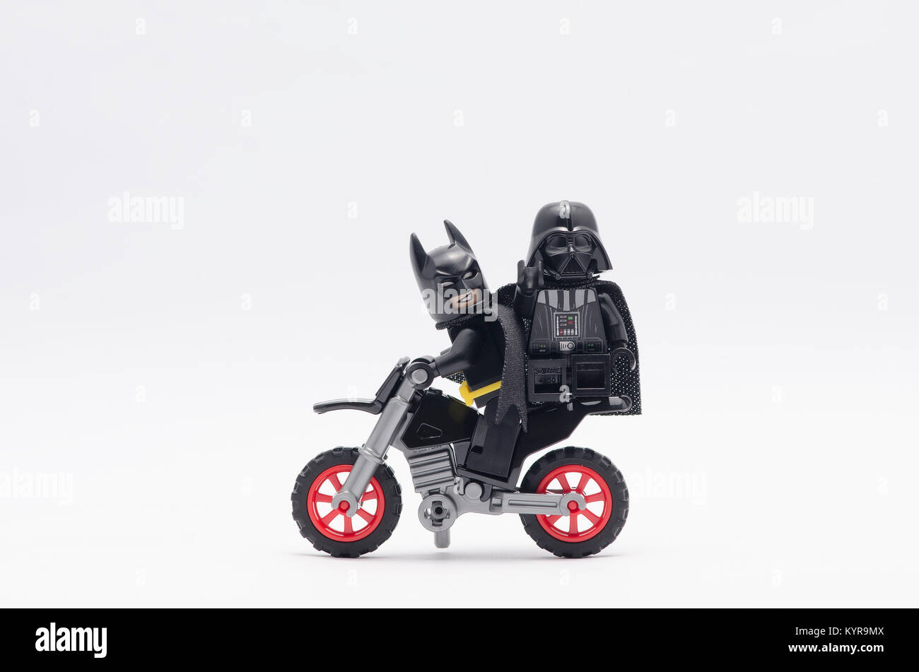 Lego Batman Riding Dirt Bike With Darth Vader