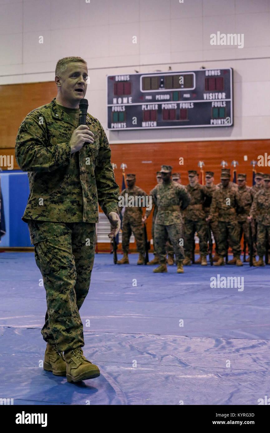 U.S. Marine Corps Lt. Col. Daniel M. Murphy, commanding officer, Marine Air Support Squadron 2 (MASS-2), Marine - Stock Image