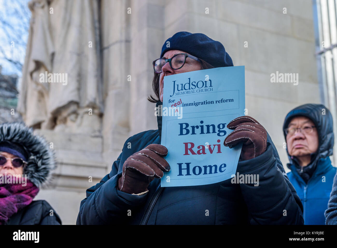 New York, United States. 15th Jan, 2018. In the spirit of Dr. Martin Luther King Jr., faith leaders, and immigration - Stock Image