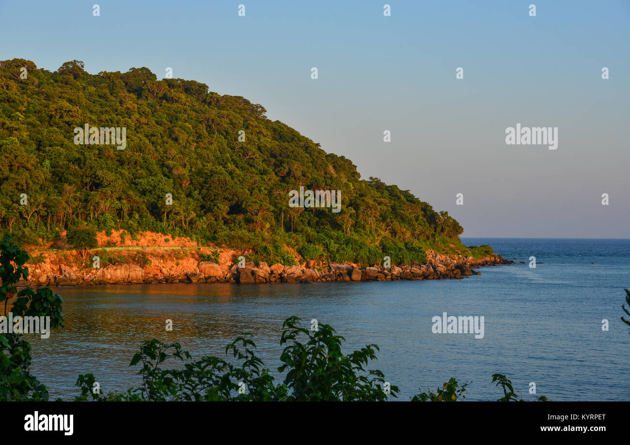 Sunset on Phu Quoc Island, Kien Giang Province, Vietnam. - Stock Image