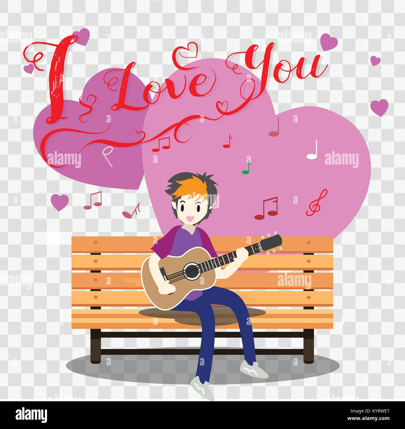 Surprising Boy Playing Guitar On A Chair For Valentines Day On Happy Ocoug Best Dining Table And Chair Ideas Images Ocougorg