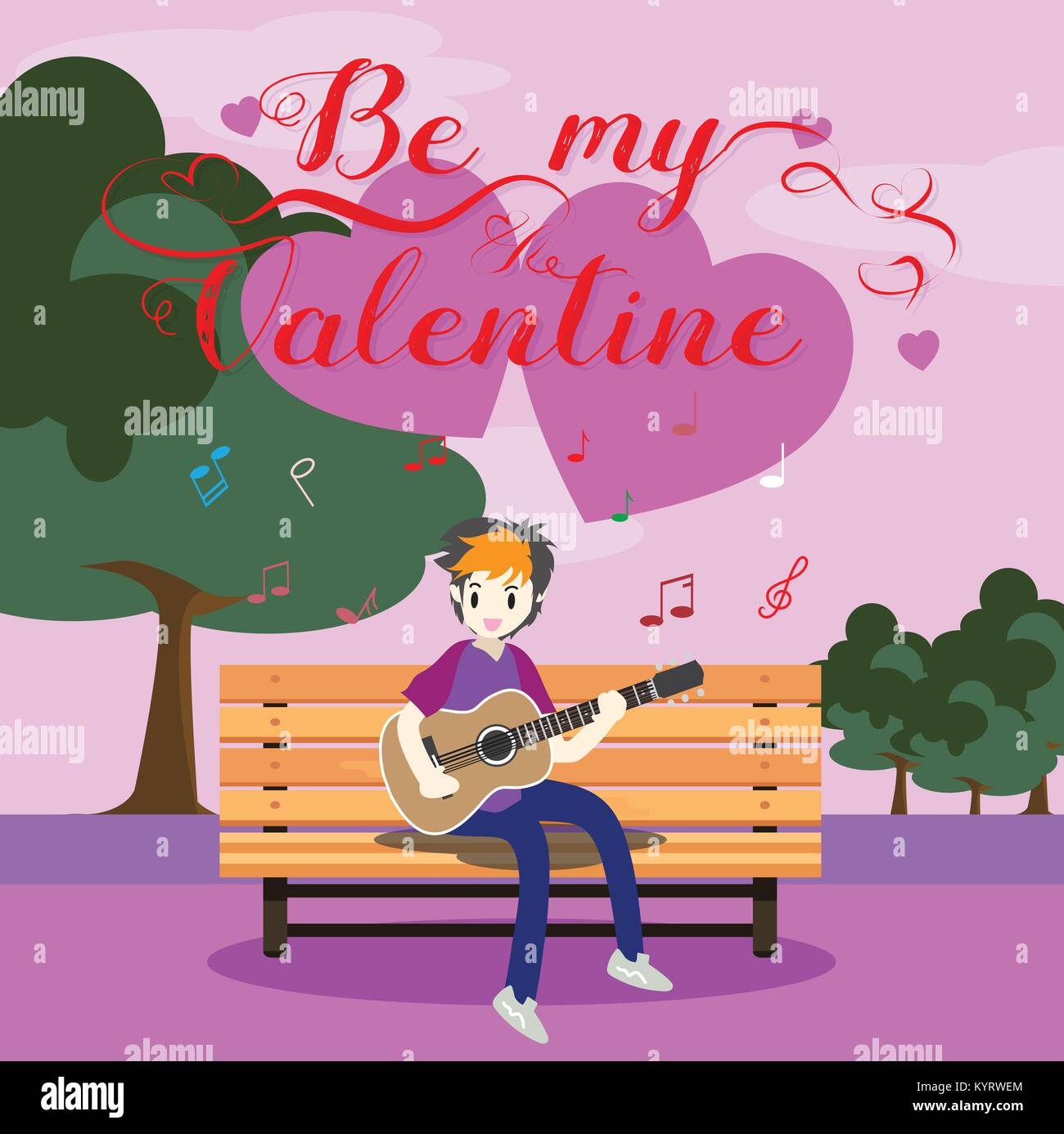Prime Boy Playing Guitar On A Chair For Valentines Day On Happy Ocoug Best Dining Table And Chair Ideas Images Ocougorg