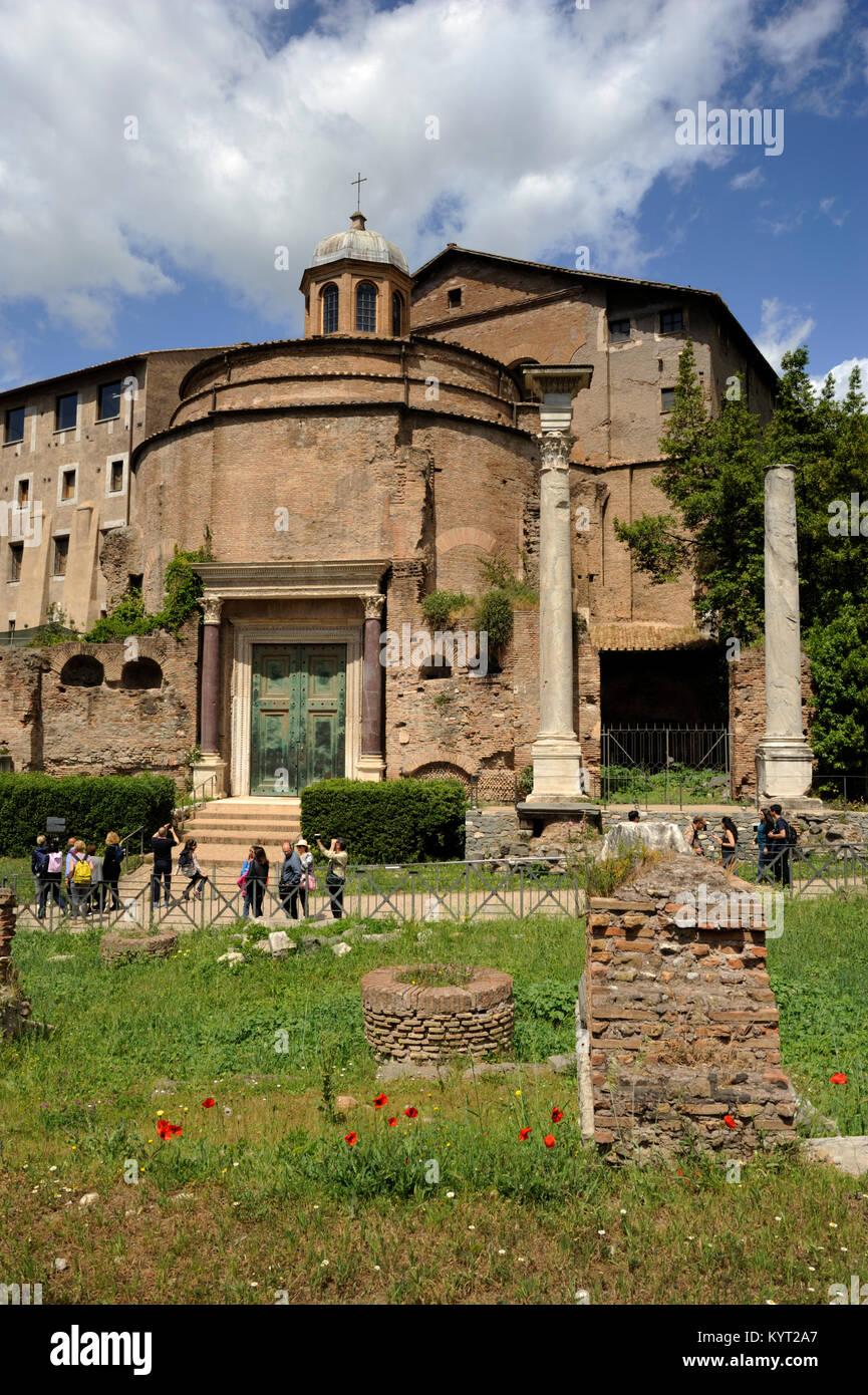 italy, rome, roman forum, romulus tomb - Stock Image