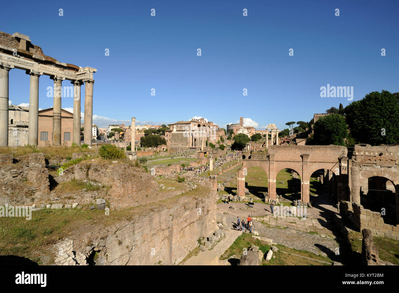 italy, rome, roman forum - Stock Image