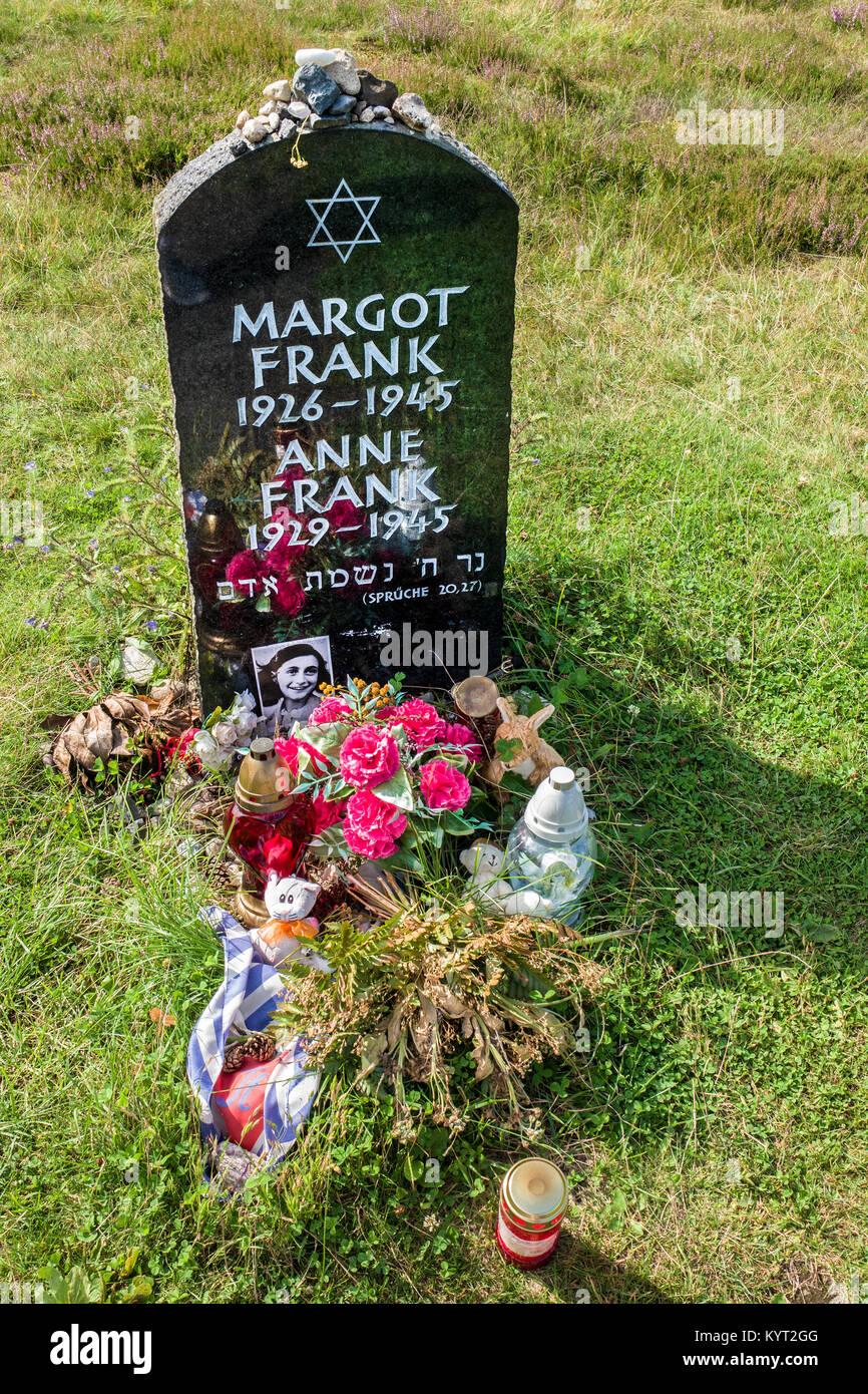Anne Frank, Memorial ,Bergen Belsen, Germany - Stock Image