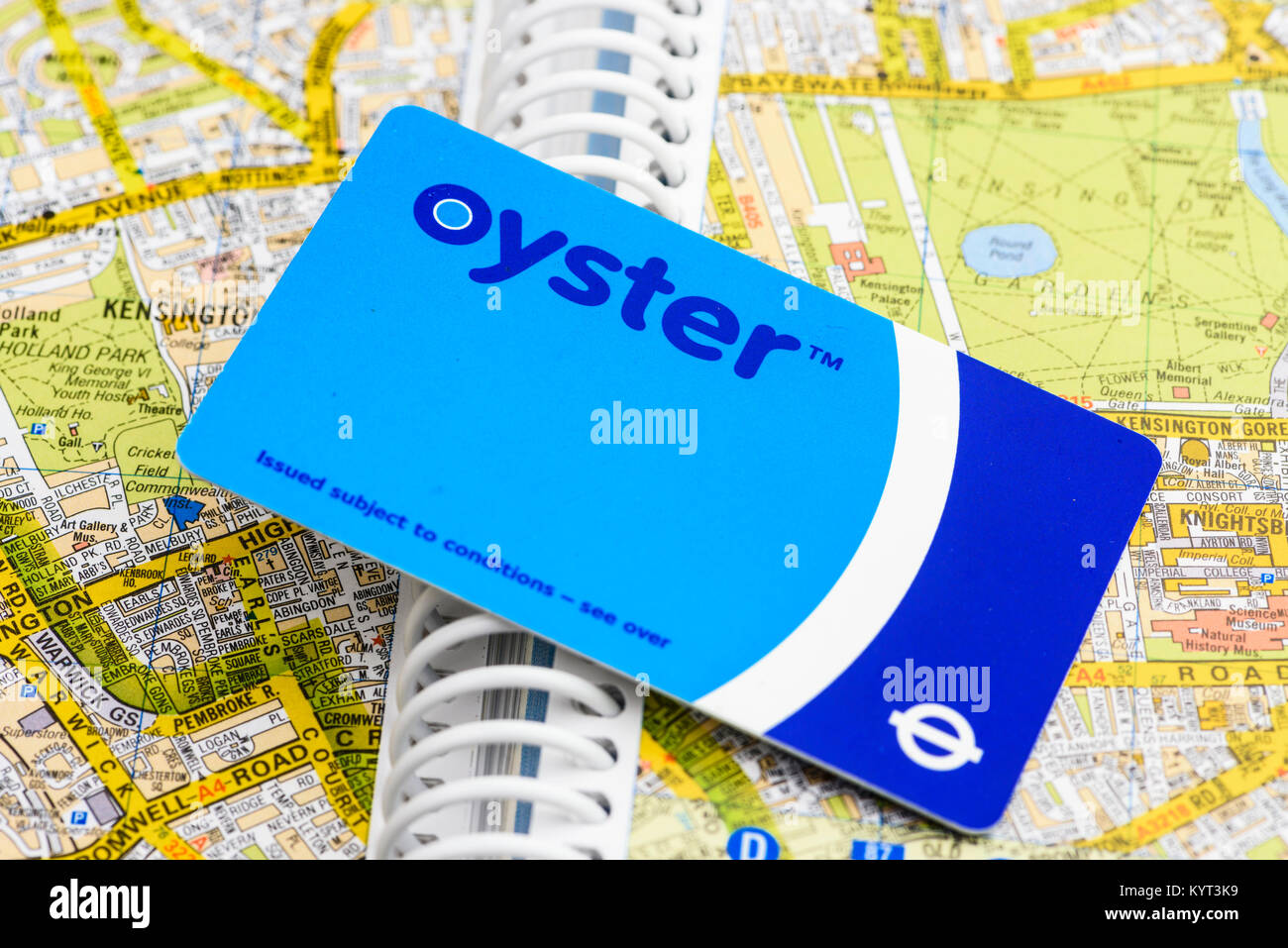 Oyster payment card from Transport for London