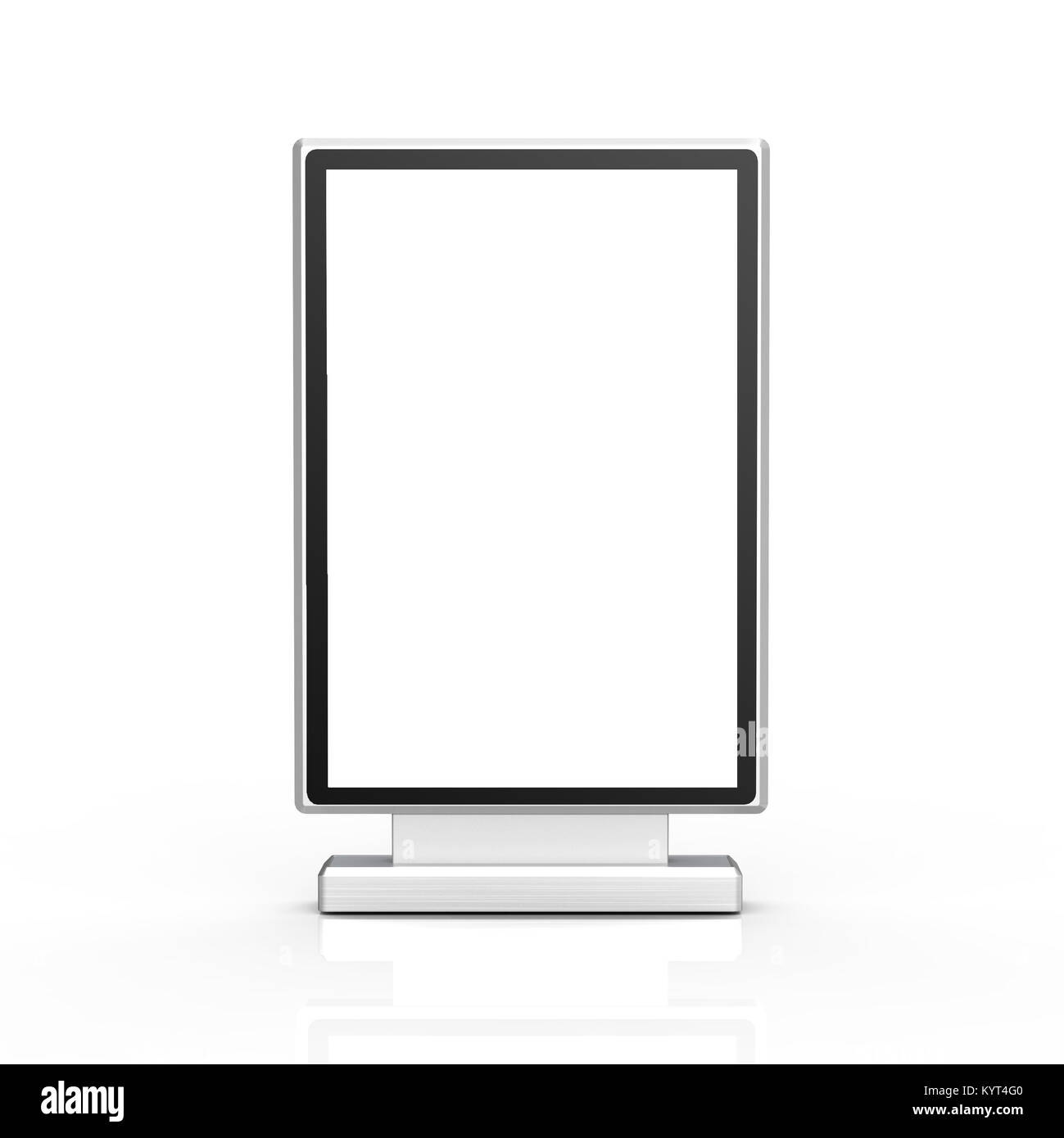 Black Light Box Stand Mockup 3d Rendering Sign Board Template For