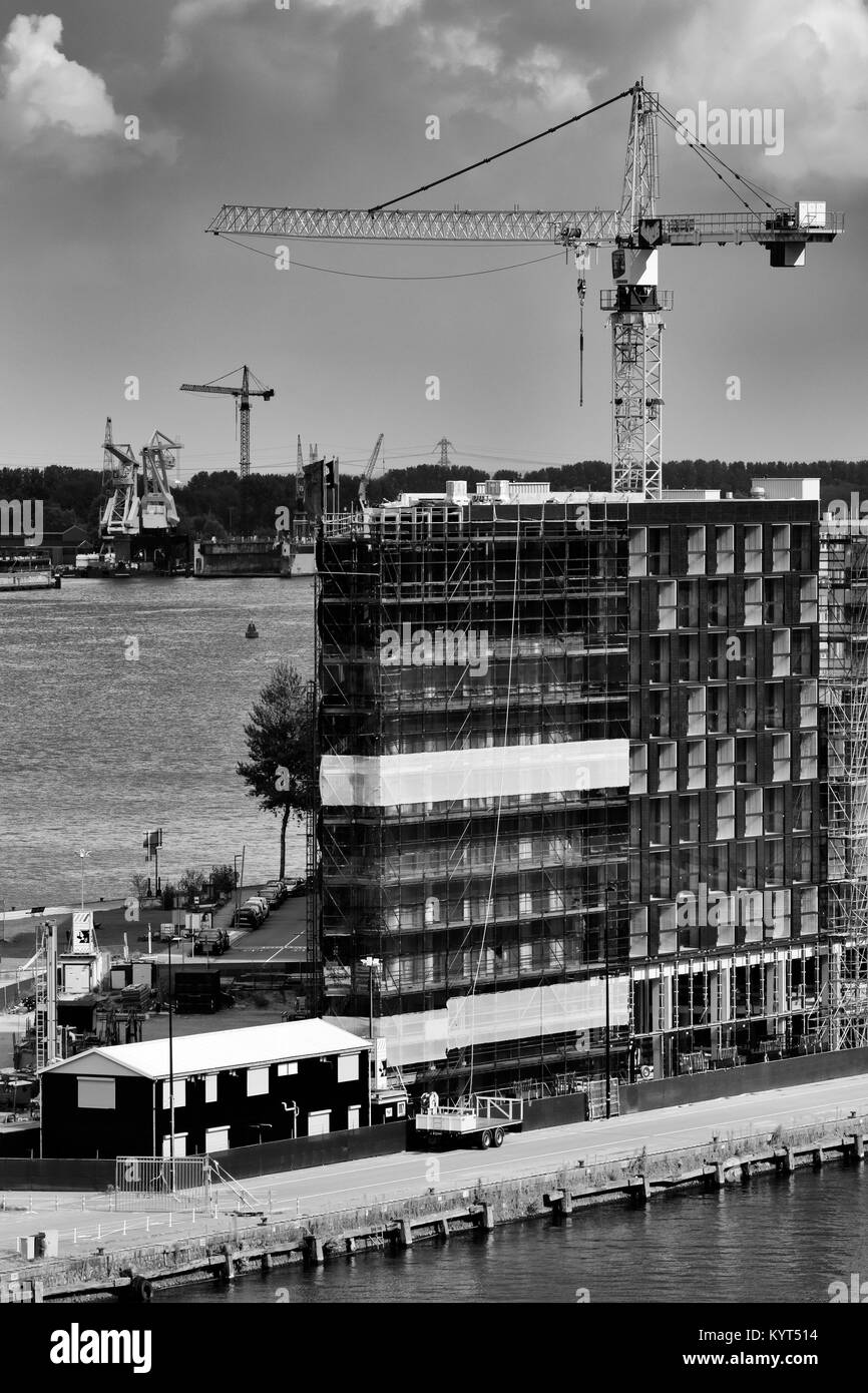 Construction, Java Island, Amsterdam, North Holland, Netherlands, Europe - Stock Image