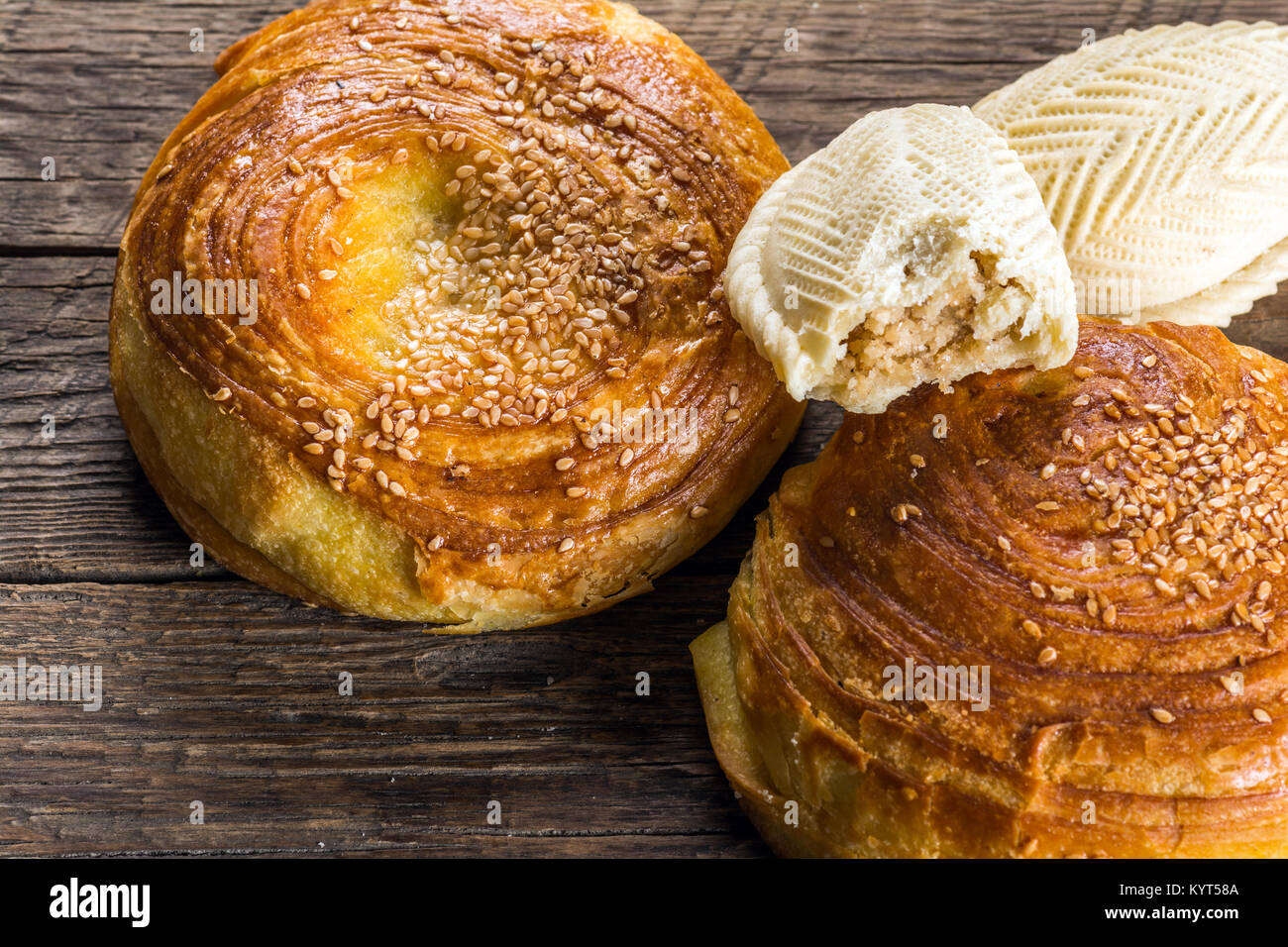 Azerbaijan national pastry, Qogal Stock Photo