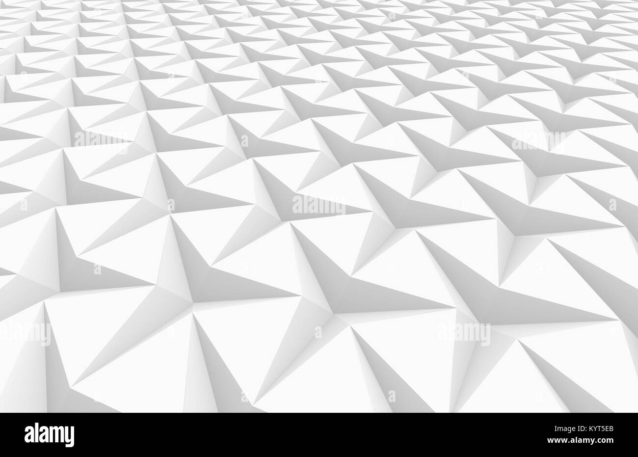 White three pointed star background, 3d render abstract pattern ...