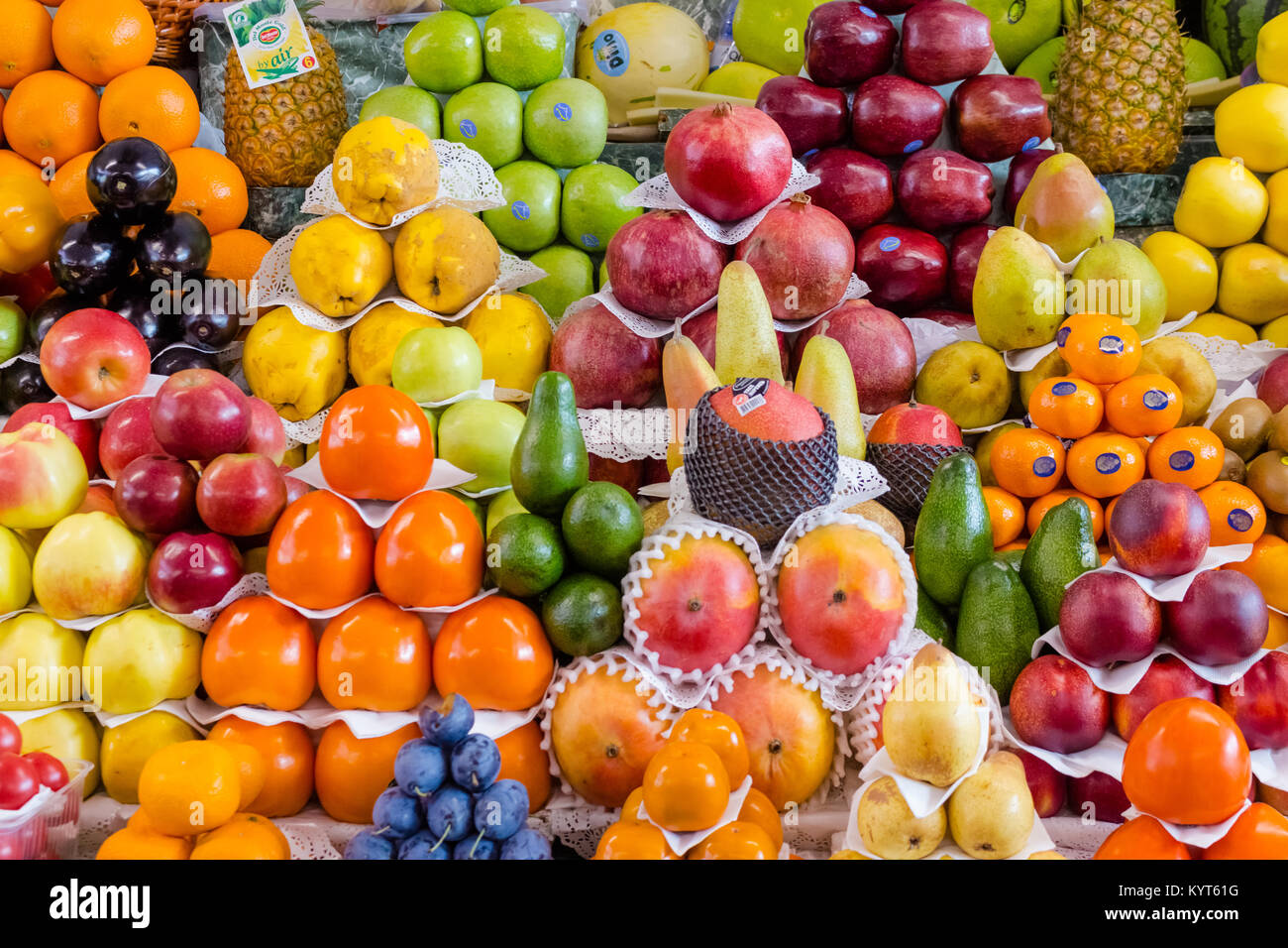 Fruit Mix Combination Of Different Fruits Decoration On