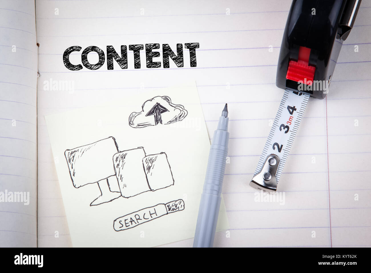 Content concept. social media, digital marketing and internet business Stock Photo