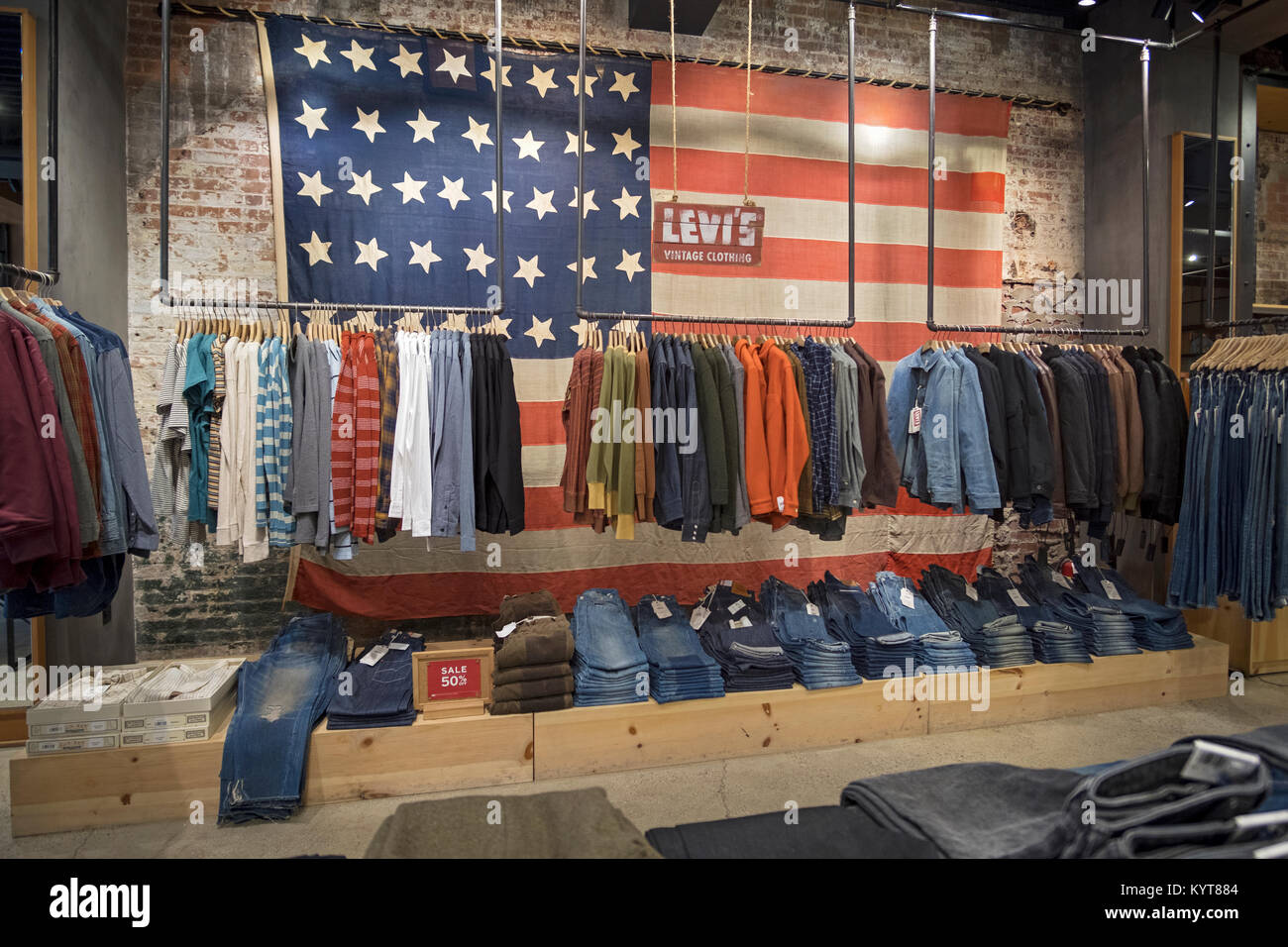 90c7f4f5 The interior of the Levi's store on West 14th Street in the Meatpacking  District of lower