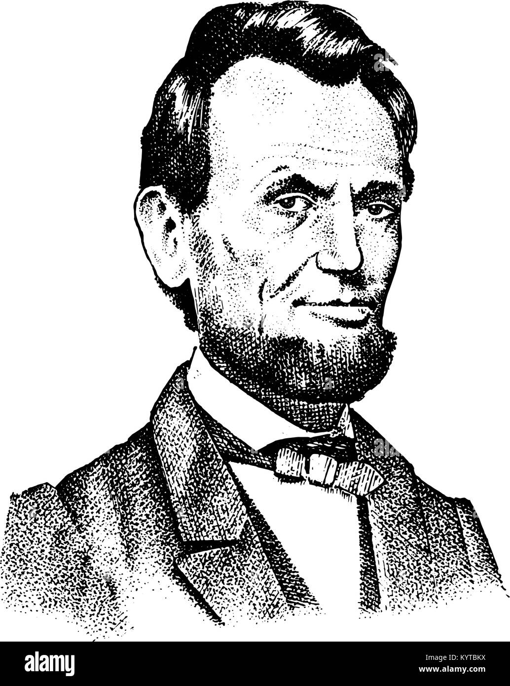 Abraham Lincoln Cartoon Stock Vector Images Alamy