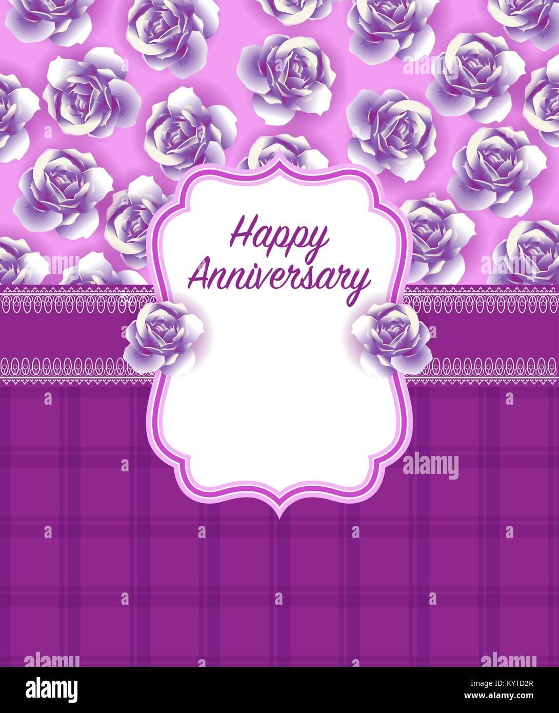 Happy Anniversary Greeting Card Design Stock Vector Art