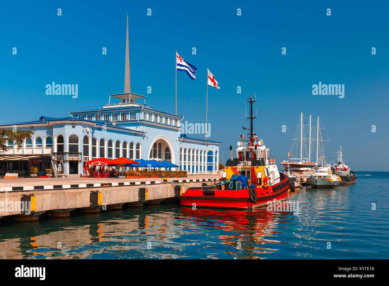 Batumi Sea Port, Adjara, Georgia - Stock Image