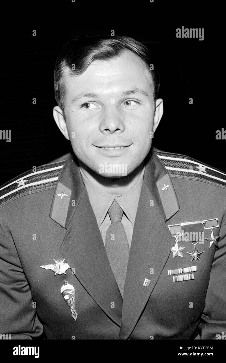 The Russian cosmonaut Yuri Gagarin (1934-1968) in July 1961. - Stock Image