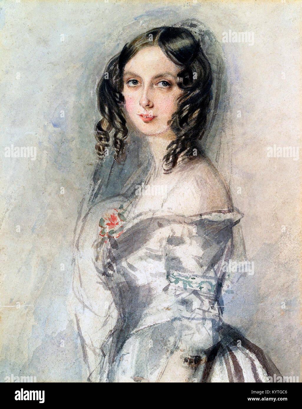 Ada Lovelace. Augusta Ada King-Noel, Countess of Lovelace (nee Byron; 1815-1852), an English mathematician and writer, - Stock Image