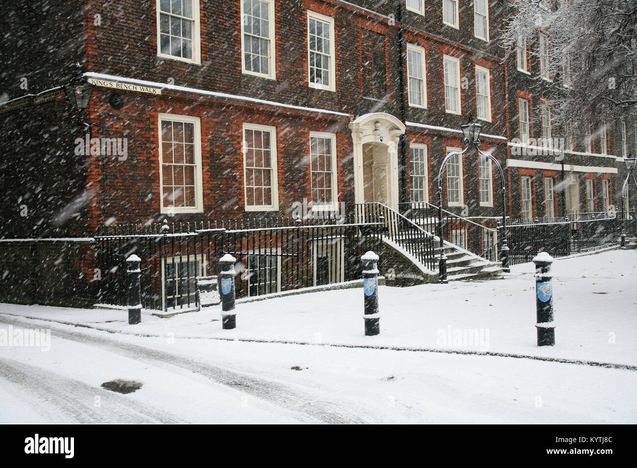 Inner Temple, Kings Bench Walk London - Stock Image