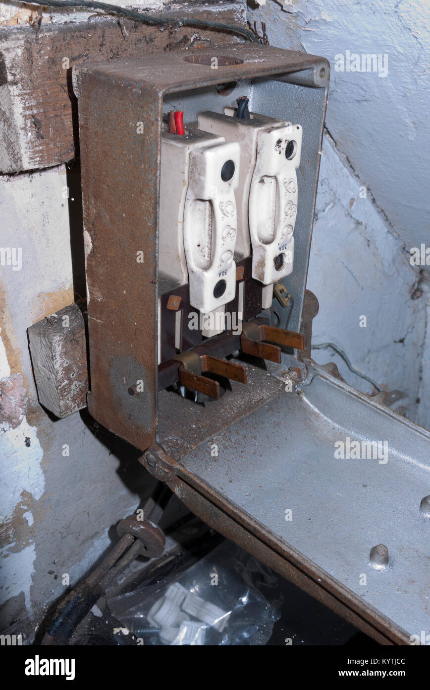 Fuse Box Stock Photos Images Alamy England Old Cast Iron In Cellaruk Image