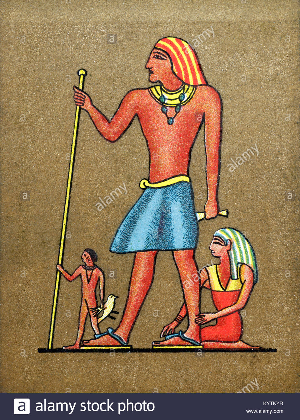 Depiction of ancient Egyptian Tyhi - Stock Image