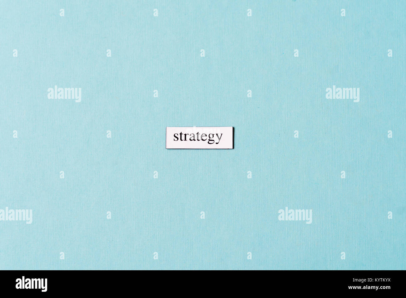 Strategy concept flat lay with copy space - Stock Image