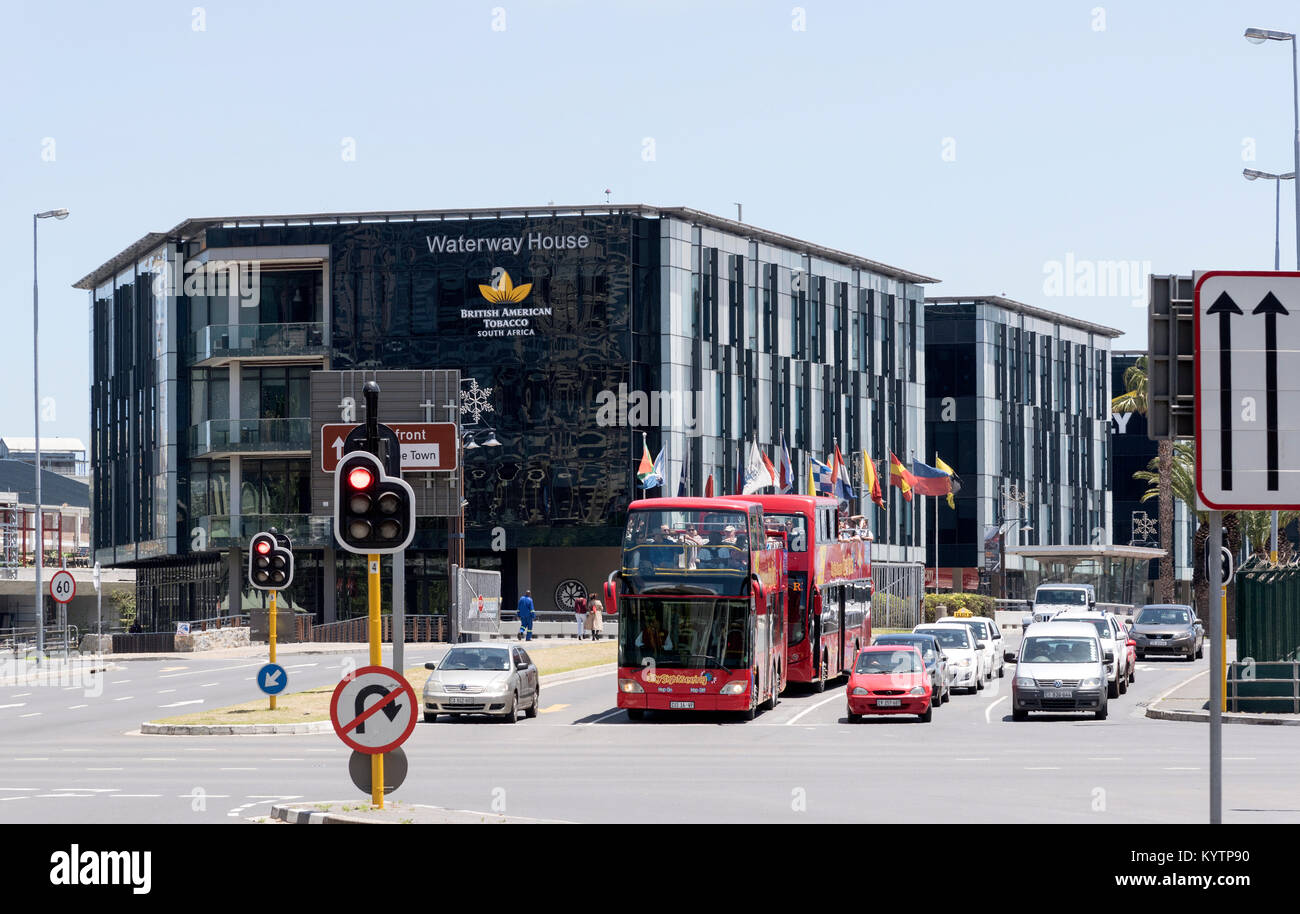 Cape Town city centre South Africa. December 2017. The British American Tobacoo headquarters at Waterway House close - Stock Image