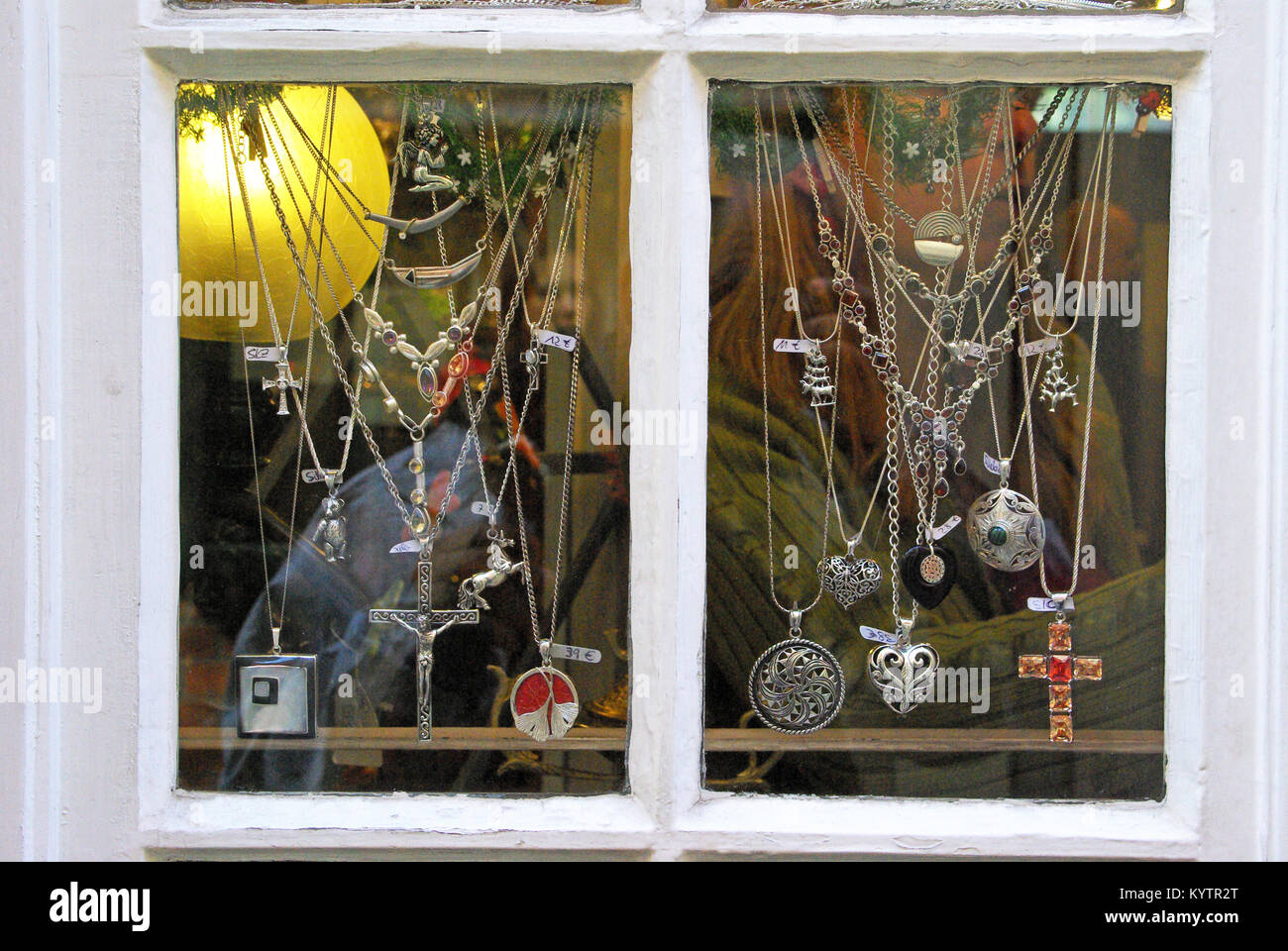 Bremen, Germany. The jewel shop - Stock Image